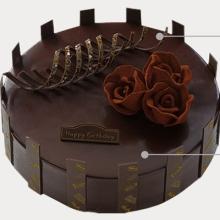 圆形巧克力蛋糕图片