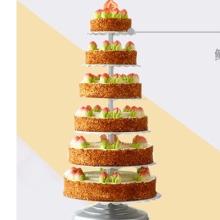 六层祝寿鲜奶水果蛋糕图片