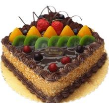 方形巧克力蛋糕图片