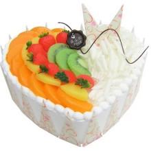 心形巧克力水果蛋糕图片