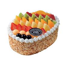 长方形水果蛋糕图片