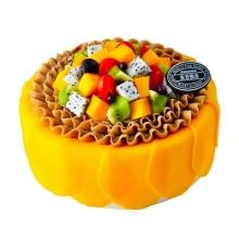 圆心水果蛋糕图片