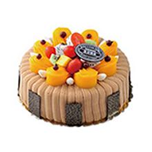 圆形水果栗子蛋糕图片