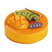 圆形芒果慕斯蛋糕图片