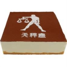 方形天平座提拉米苏蛋糕图片
