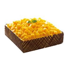 方形芒果慕斯蛋糕图片