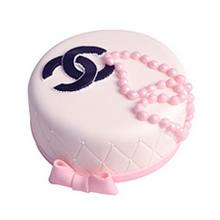 圆形翻糖蛋糕图片