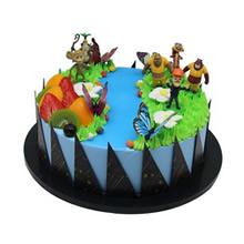 圆形熊出没水果蛋糕图片