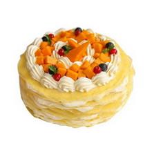 圆形榴莲千层蛋糕图片