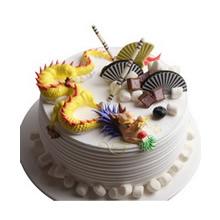 圆形生肖水果蛋糕图片