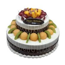 12寸+8寸双层无糖水果蛋糕图片