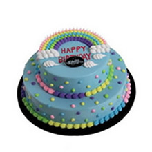 12寸+8寸双层圆形彩虹蛋糕图片
