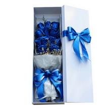 11朵蓝玫瑰图片