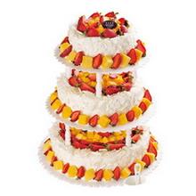 16寸+12寸+8寸三层圆形水果蛋糕图片