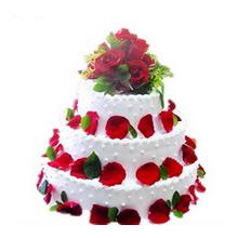 16寸+12寸+8寸三层圆形鲜奶蛋糕图片