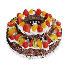 12寸+8寸双层圆形水果蛋糕图片