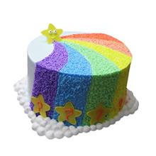 圆形彩虹蛋糕图片