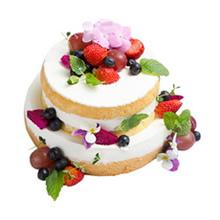 12寸+8寸双层水果蛋糕图片