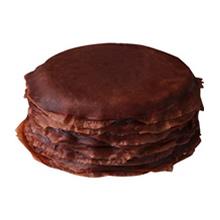圆形巧克力千层蛋糕图片