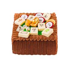 巧克力麻将蛋糕图片