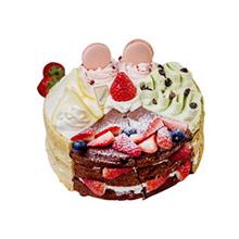 个性裸蛋糕(抹茶+咖啡+柠檬+巧克力4种口味蛋糕胚)