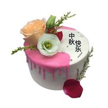 圆形鲜花蛋糕图片