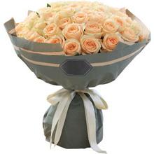 香槟玫瑰66枝