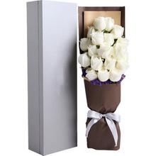 白玫瑰19枝,礼盒款图片