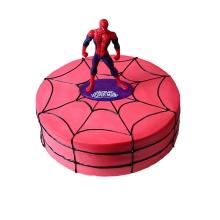 圆形鲜奶超人蜘蛛侠,卡通人物装饰