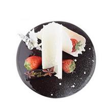 圆形巧克力慕斯蛋糕图片