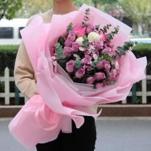 19枝精品紫玫瑰图片
