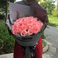 33枝精品粉玫瑰图片