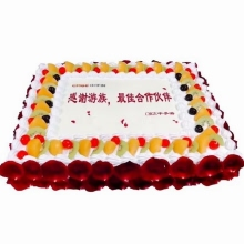 20寸方形庆典水果蛋糕图片
