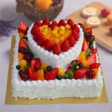 双层水果蛋糕图片