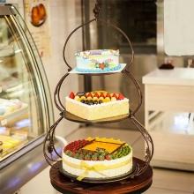 3层支架水果蛋糕图片