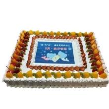 20寸方形庆典水果数码蛋糕图片