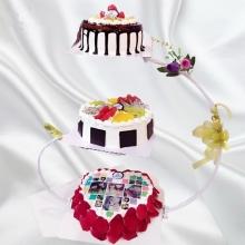 三层聚会庆典蛋糕图片