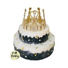 6寸+10寸皇冠双层圆形水果蛋图片