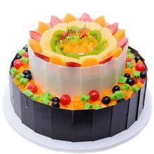 8寸+12寸圆形水果蛋糕图片