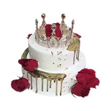 6寸+10寸皇冠圆形水果蛋糕图片