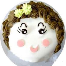 圆形卡通鲜奶蛋糕图片