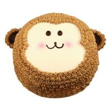 小猴形状卡通鲜奶蛋糕图片