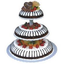 三层巧克力水果蛋糕图片