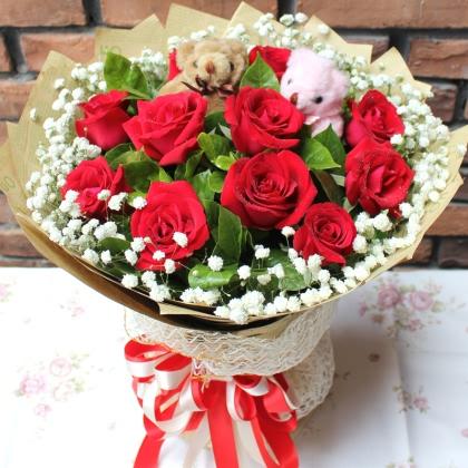 11枝玫瑰花/红玫瑰图片