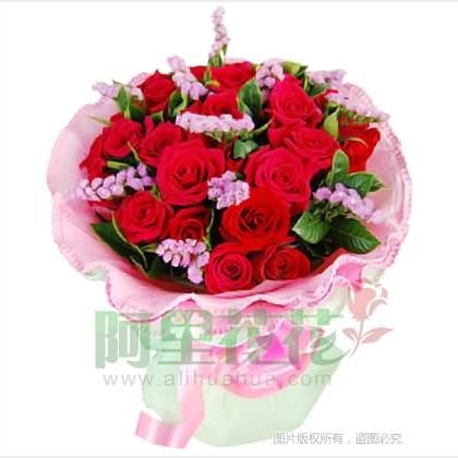 19枝玫瑰花/红玫瑰图片