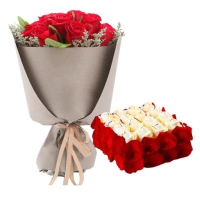 21枝红玫瑰,方形欧式鲜奶蛋糕欧式鲜奶蛋糕图片