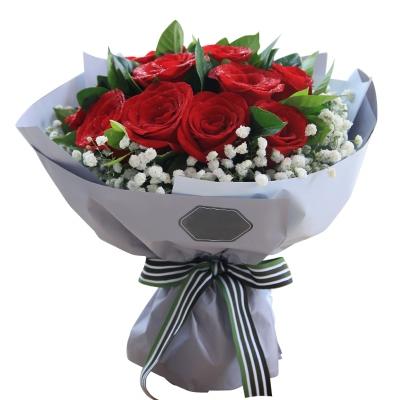 红玫瑰11枝图片