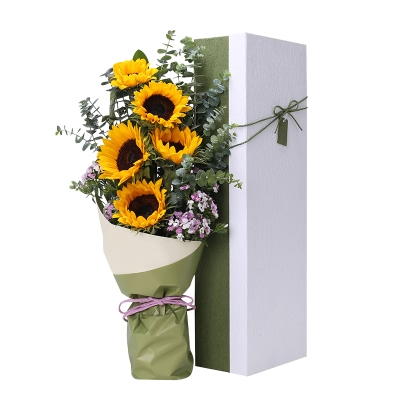 5支精品向日葵,礼盒款图片