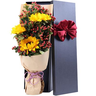 3支向日葵,礼盒款图片