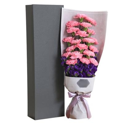 粉色康乃馨19枝,礼盒款图片